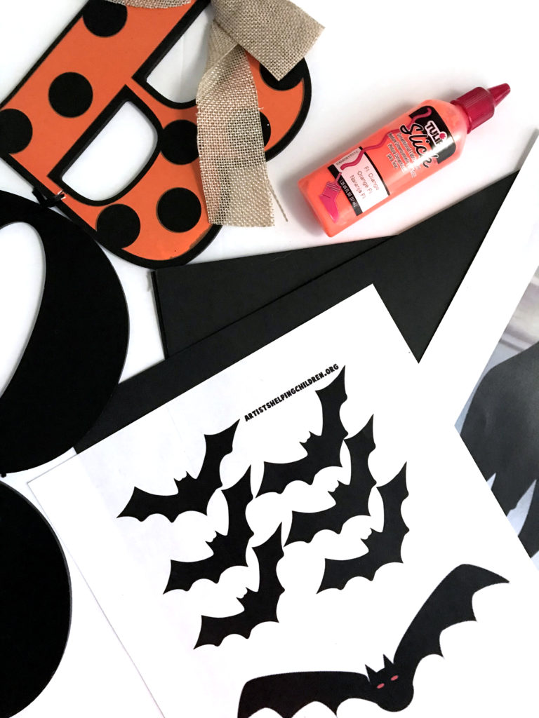 Last Minute Halloween Decor DIY - Bat Cutouts | Lovely Olive Living